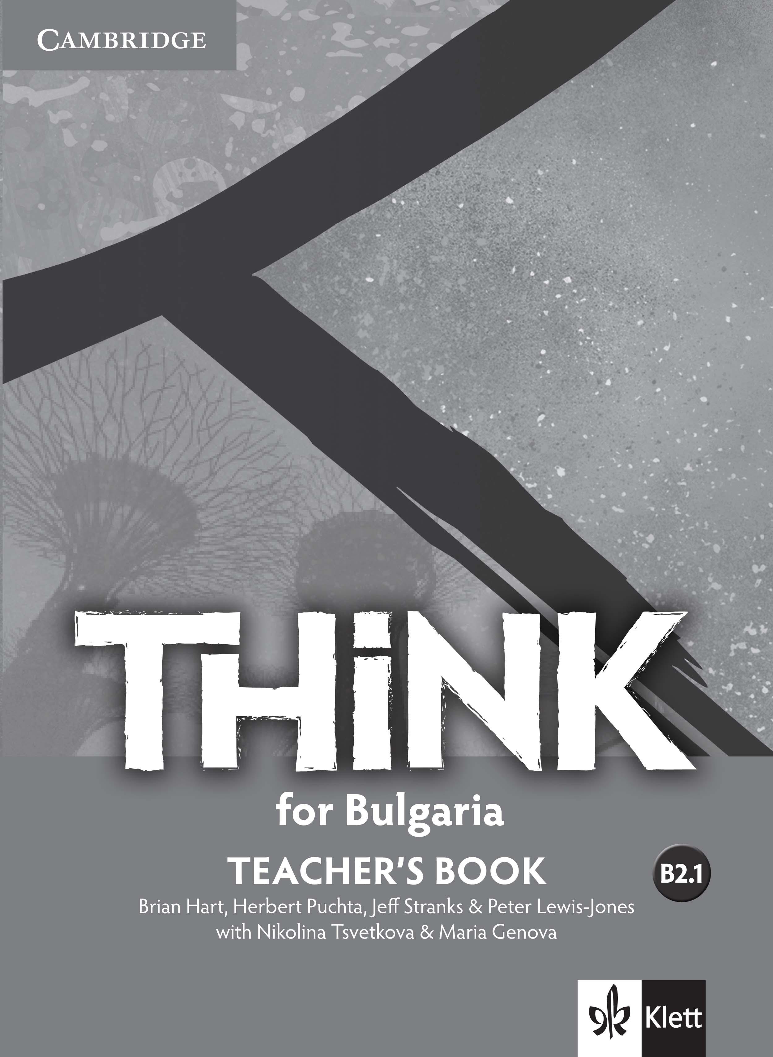 Think for Bulgaria B2.1 Teachers Book